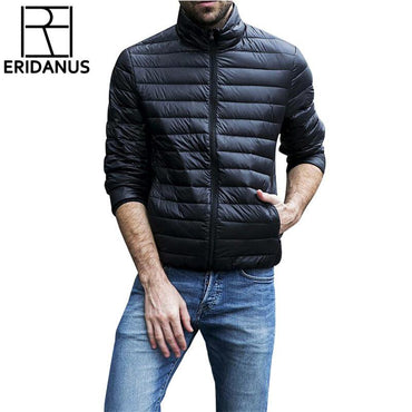 Autumn Winter Jacket Men New Couples Thin Coats 90% Duck Down Jacket.