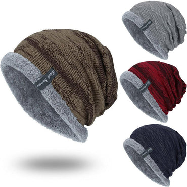 FASHION Boys Men Winter Hat  Knit Scarf Cap  Men Caps