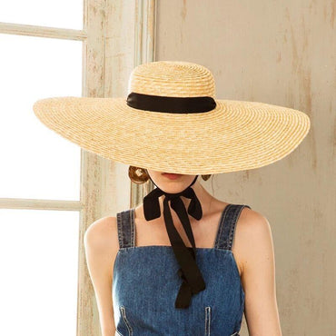 Summer Beach Wheat Straw Women Boater hat