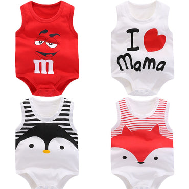Baby rompers Summer sleeveless newborn baby boys clothes.