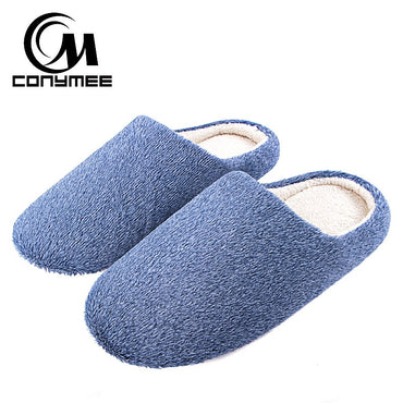 Soft Plush Home Men Indoor Cotton Shoes Slippers