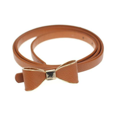 Free Ostrich PU Leather Women Bow Waist Belt