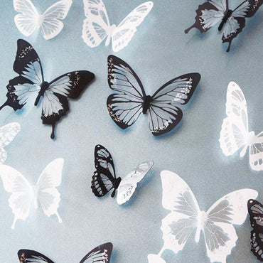 18pcs/lot 3d crystal Butterfly Wall Sticker Art Decal Home decor for Mural Stickers DIY Decals PVC Christmas Wedding Decoration