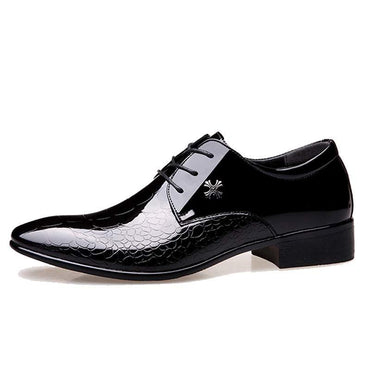 Leather Wedding Oxford Shoes Lace-Up Men's Casual Shoes