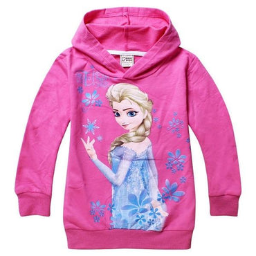 Children's Spring Long Sleeve Sweater Elsa Anna.
