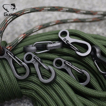 Mini SF Spring Backpack Clasps Climbing Carabiners EDC Keychain Camping Bottle Hooks.