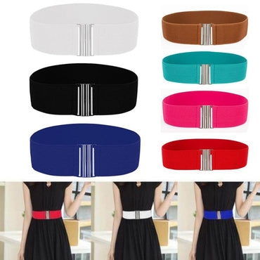 Skinny Elastic Soft Leather Wide Women Belts