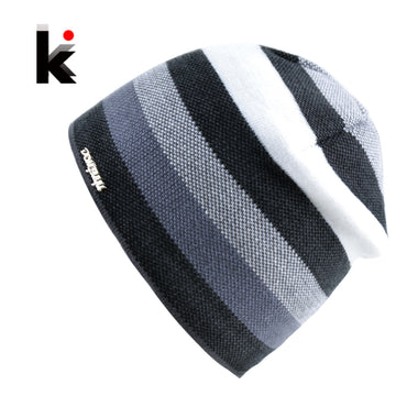 Men's Skullies Hat Bonnet Winter Beanie Knitted Wool Hat .