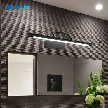 Modern Led Mirror Light  8W 12W AC90-260V Wall Mounted Industrial Wall Lamp Bathroom Light Waterproof Stainless Steel
