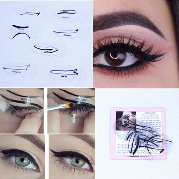 7 style in 1 set Quick Cat Eyeliner Smokey Eyeshadow
