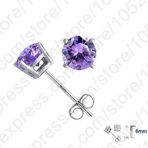Real Pure 925 Sterling Silver High Quality Earrings Jewelry.