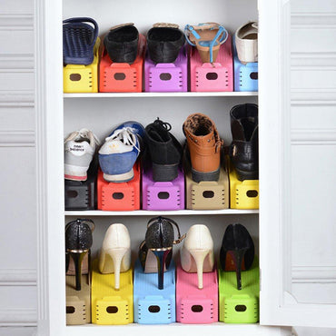 2018 Fashion Shoe Racks Modern Double Cleaning Storage Shoes Rack Living Room Convenient Shoebox Shoes Organizer Stand Shelf