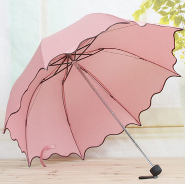 For Women Rain Umbrella 4 Folding Female Umbrella
