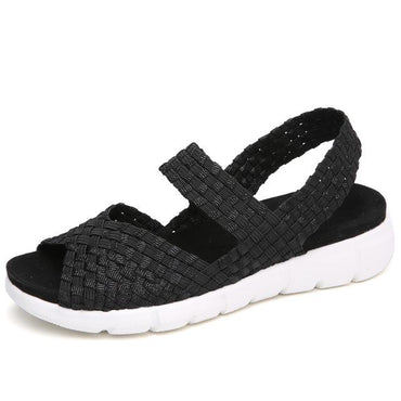 women woven wedge ladies beach summer flat sandals.