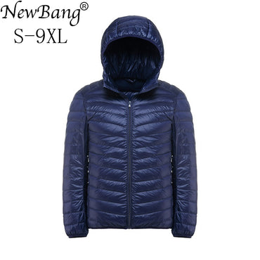 NewBang Brand Plus 9XL 8XL 7XL Down Coat Male Ultra Light Down Jacket.