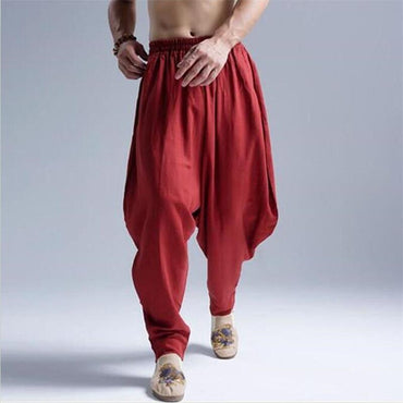 Summer Autumn Cotton Linen Casual Harem Pants.