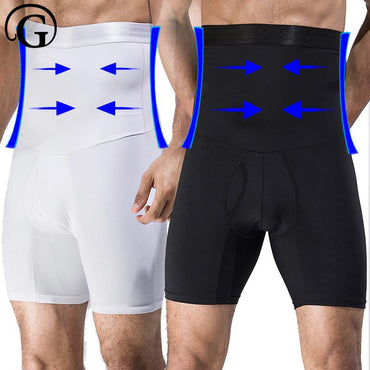 PRAYGER Men High Waist Big Belly Control Panties Tummy Trimmer Corset Hold Stomach Body Shapers.