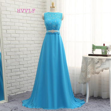 Floor Length Chiffon Lace Long Wedding Party Dresses