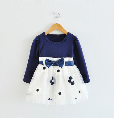 Long Sleeve Baby Girls Dress For Girl.