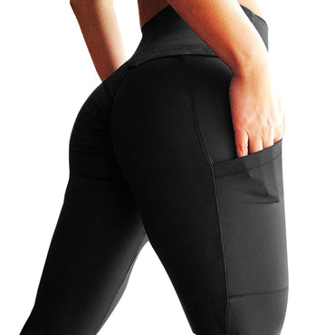 High Waist Workout Leggings Pockets Fashion Solid Bodybuilding .