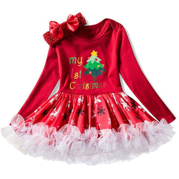 Fantasy 1 2 Year Birthday Baby Girl Dress  3pcs Clothing.
