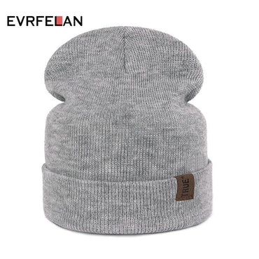 Evrfelan Hot Sale Knitted Winter Hats Women Cotton Beanie Ladies Warm Skullies Hats .
