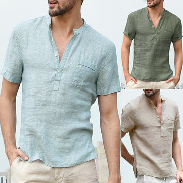INCERUN Comfortable Casual Men Shirts Short Sleeve.