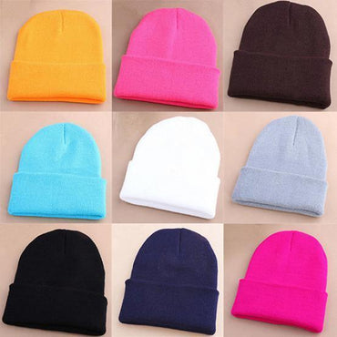 Women Men Wool Sport Outdoors Tabby Elastic Beanie .