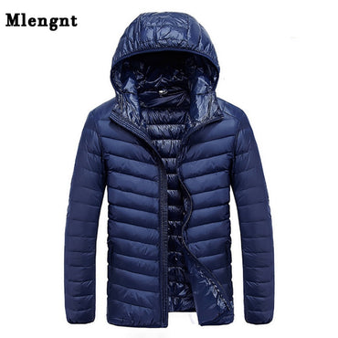 Autumn Men's Ultralight 90% White Duck Down Jacket.