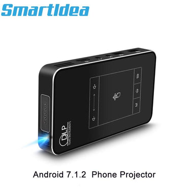 Newest Smartldea T18 Android 7.1.2 Portable DLP Projector Support AC3 HD 1080P Video Game Beamer Bluetooth Airplay DLNA