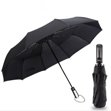 Wind Resistant Three Folding Automatic Umbrella Rain Women Auto Luxury Big Windproof Umbrellas