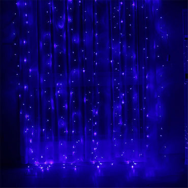 3X3M Christmas Garlands LED String Christmas Net Lights Fairy Xmas Party Garden Wedding Decoration Curtain Lights