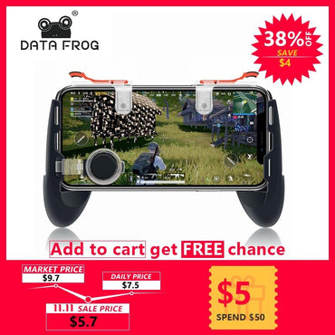 For Pubg Game Gamepad For Mobile Phone Game Controller l1r1 Shooter Trigger Fire Button For IPhone For Knives Out