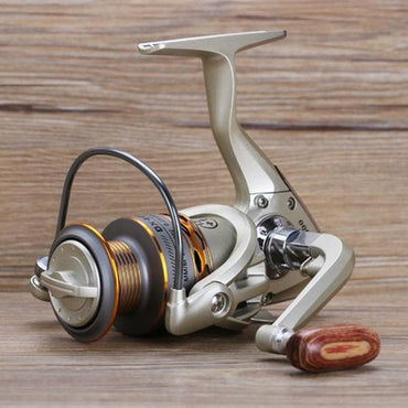 New  Fishing coil Wooden handshake 12+ 1BB Spinning Fishing Reel Professional Metal Left/Right Hand  Fishing Reel Wheels