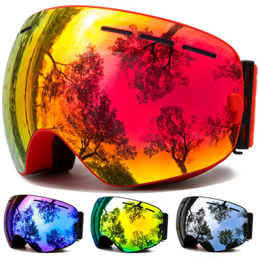 Ski Goggles,Winter Snow Sports Snowboard Goggles with Anti-fog UV Protection for Men Women