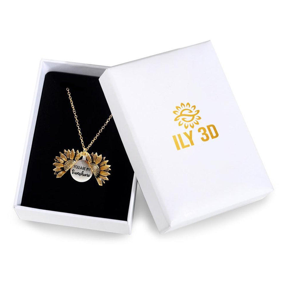 Girl's You Are My Sunshine Sunflower Necklace