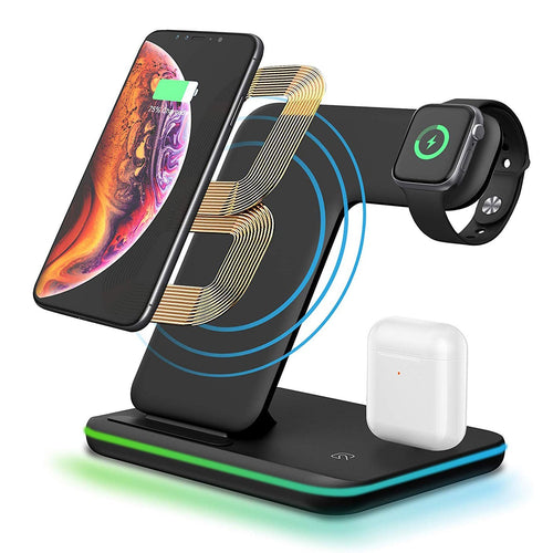 3 in 1 Wireless Fast Charger for iPhone / Apple Watch / Airpods