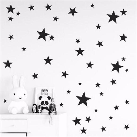 New 45/24pcs Cartoon Starry Wall Stickers For Kids Rooms Home Decor Little Stars Wall Decals Baby Nursery DIY Vinyl Art Mural