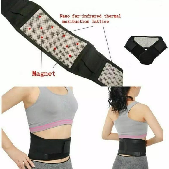 Waist Belt Lumbar Support Pain Massager Self-heating Magnetic Therapy