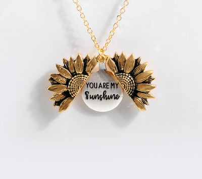 You Are My Sunshine Open Locket Necklace - BeautyCoves