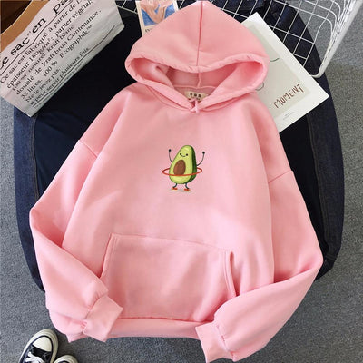 Happy Avocado Pullover Hoodie - BeautyCoves