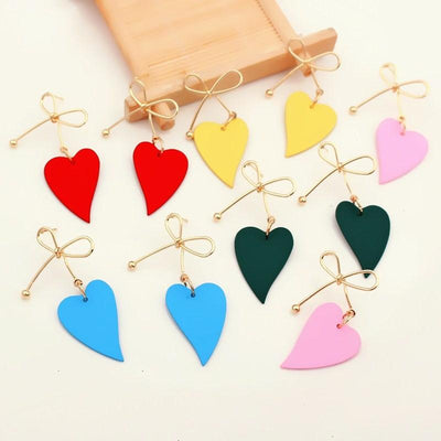 Heart Drop Earrings - BeautyCoves