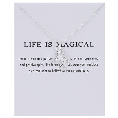 Life Is Magical Charm Necklace - BeautyCoves