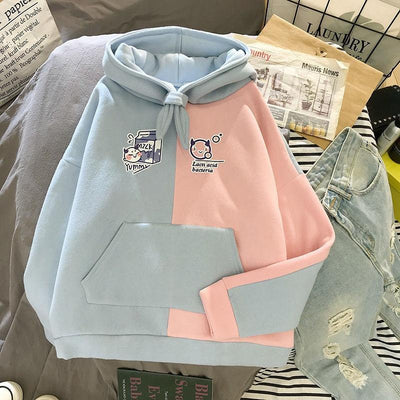 Double Color Hoodie Hoodies & Sweatshirts Adaclothing Store