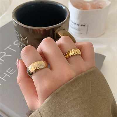 Gold Adjustable Knuckle Rings Rings MENGJIQIAO Official Store