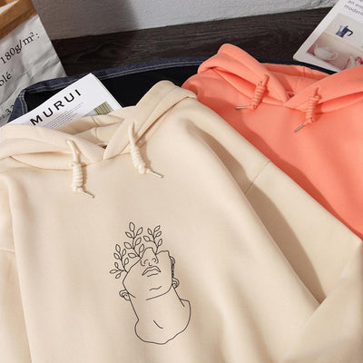 Aesthetic Abstract Leaf Hoodie Hoodies & Sweatshirts KEENICI factory Store