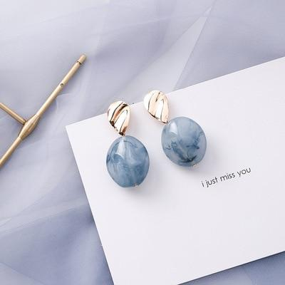 Blue Acrylic Earings - BeautyCoves