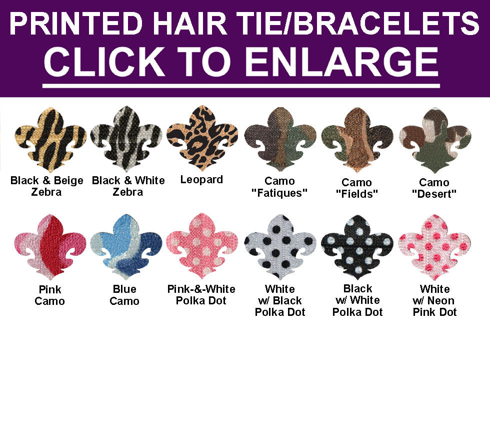 Build Your Own PRINTED Hair Tie (Ponytail)/Bracelet COLLECTION