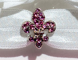 FLEUR DE LIS Light Rose Stone: Hair Tie/Bracelet Sets