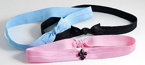 FLEUR DE LIS Black, Purple or Pink: Headband Sets